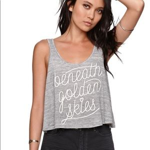 Kendall and Kylie Beneath Golden Skies Grey Tank